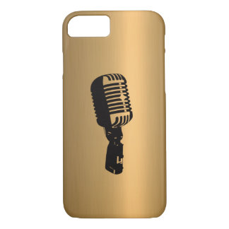 Microphone on Bronze Copper Effect iPhone 7 Case