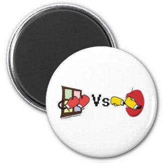 Microsoft Windows Vs Apple Mac boxing fight Refrigerator Magnets