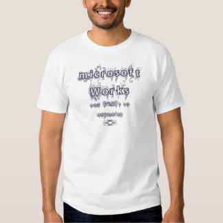 microsoft works: Oxymoron T-shirt