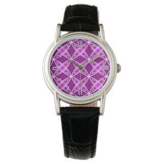 Mid Century Modern Atomic Print - Amethyst Purple Watch