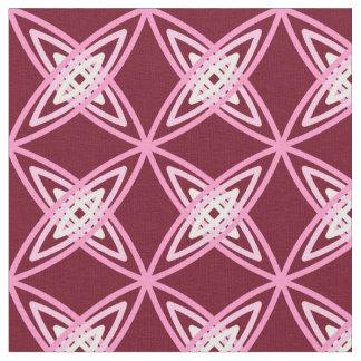 Mid Century Modern Atomic Print - Burgundy Wine Fabric