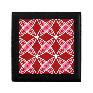 Mid Century Modern Atomic Print - Dark Red Gift Box