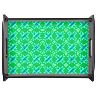 Mid Century Modern Atomic Print - Jade Green Serving Tray