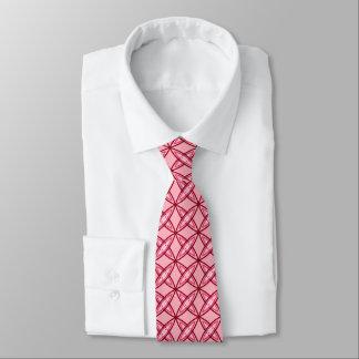 Mid Century Modern Atomic Print - Medium Pink Tie