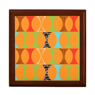 Mid Century Modern Orange Pattern Gift Box