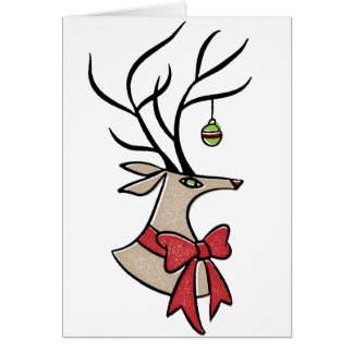 Mid Century Reindeer Card