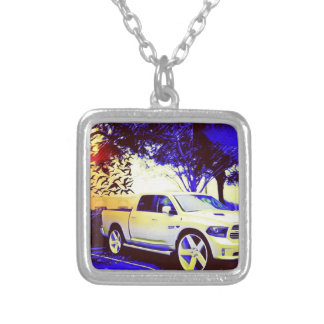 MID-KNIGHT TRUCK STOP SILVER PLATED NECKLACE