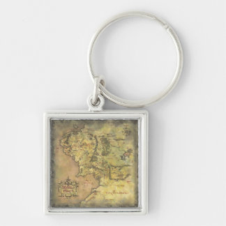 Middle Earth Map Key Ring