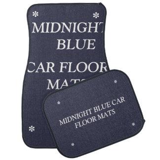 Midnight blue car floor mats