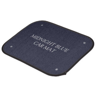Midnight blue car mats