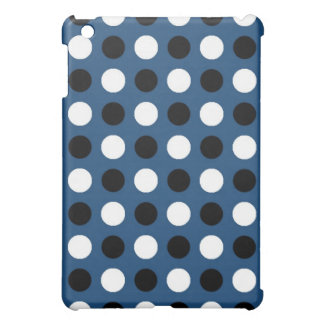 Midnight Blue Polka Dots Cover For The iPad Mini