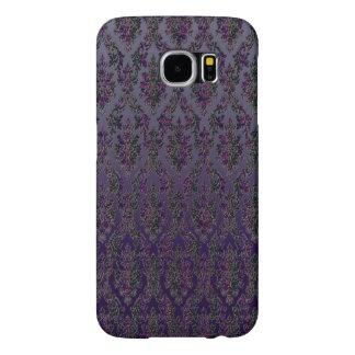 Midnight Damask Print Samsung Galaxy S6 Cases