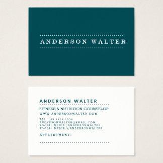 Midnight Green Minimal Elegant Professional Modern Business Card