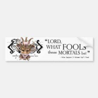 Midsummer Night's Dream Quote Bumper Sticker