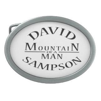 """Mighty"" David Sampson Wrestling Belt Buckle"