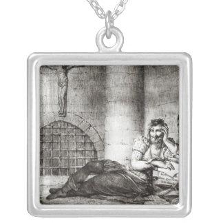 Miguel de Cervantes Saavedra Silver Plated Necklace