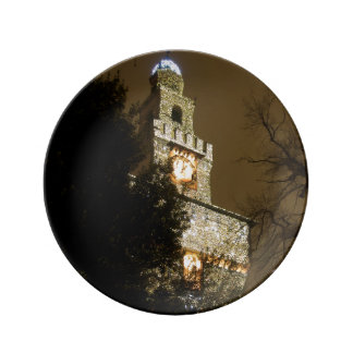 Milan Castle at Christmas Plate