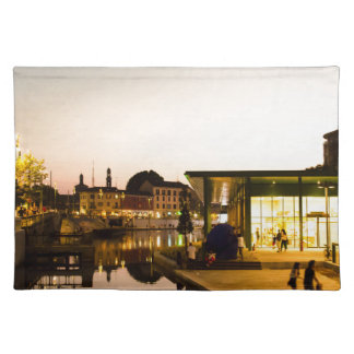 Milan overlooking the canal placemat