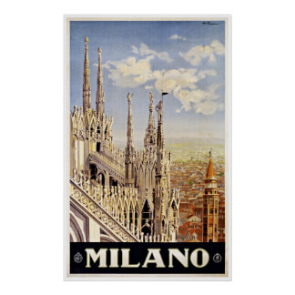 Milano Milan Italy - Vintage Travel Posters