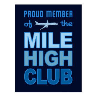 Mile High Club postcard, customize Postcard