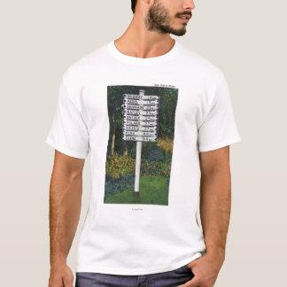 Mile Marker Sign Post T-Shirt