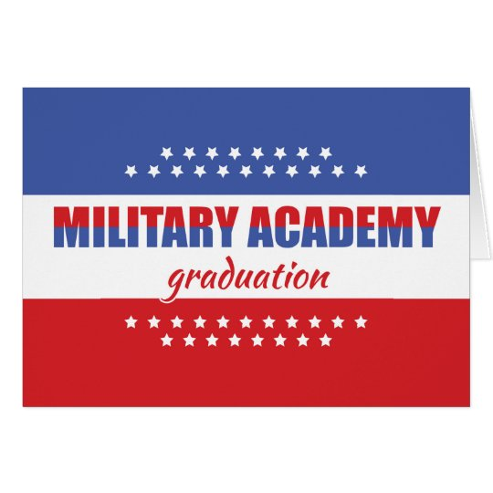 Military Academy Graduation Congratulations Card