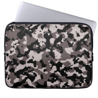 Military Brown Camouflage Pattern Laptop Sleeve