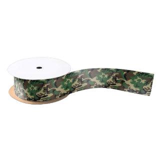 Military Camouflage Satin Ribbon