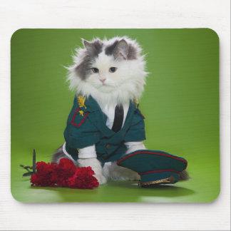 Military Cat Mousepad