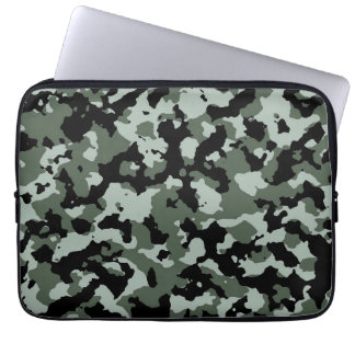 Military Green Camouflage Pattern Laptop Sleeve