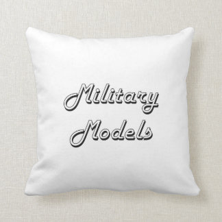 Military Models Classic Retro Design Cushion