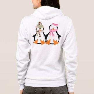 Military Penguin Couple Hoodie