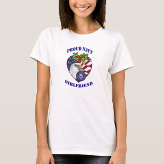 Military Proud Navy Girlfriend Christmas T-Shirt