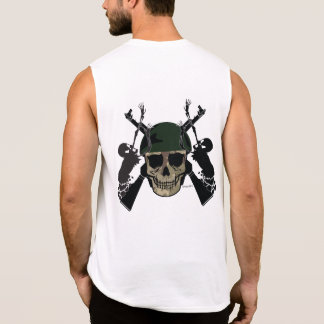 Military Skull Soldier Muscle Shirt