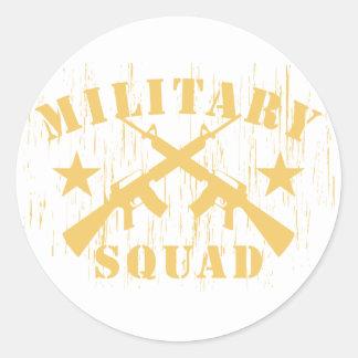 Military Squad M16 - Yellow Classic Round Sticker