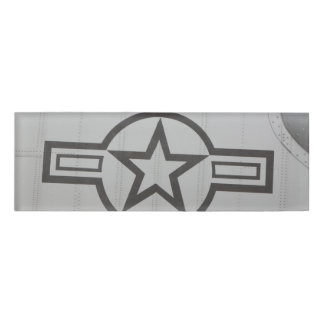 Military Star Name Tag