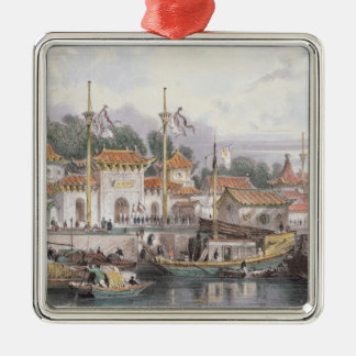 Military Station of the Chinese near the City of C Christmas Ornament