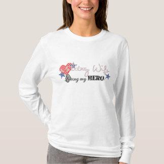 Military Wife Loving My Hero T-Shirt