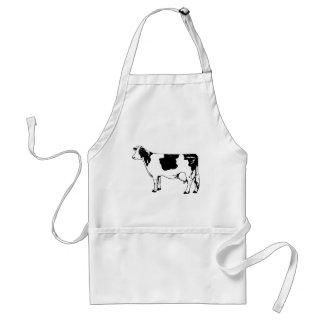 Milk Cow Silhouette Beef Cattle Moo Bull Steer Standard Apron