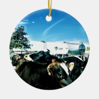 milk truck christmas ornament