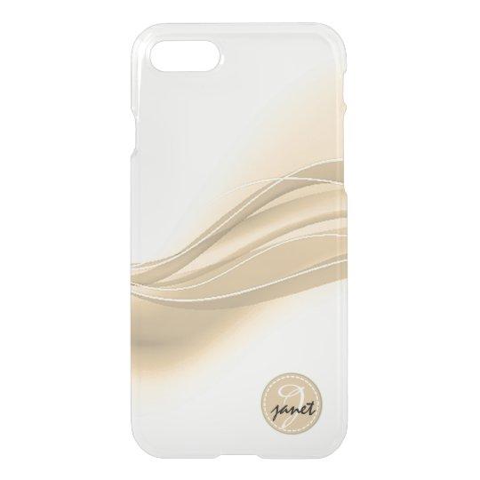 Milky Caramel Modern Waves Monogram iPhone 8/7 Case