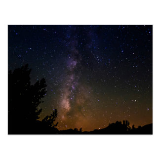 Milky Way night sky, California Postcard
