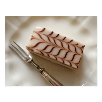 Millefeuille Cream Slice Postcard