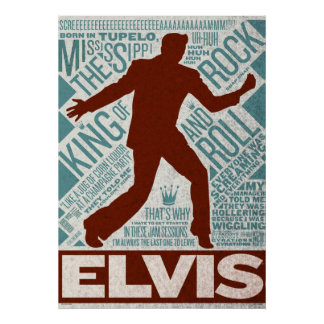 Million Dollar Quartet Elvis Type Poster