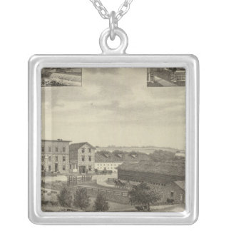Mills and Residences in Kansas Silver Plated Necklace
