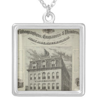 Mills & Company, Des Moines, Iowa Silver Plated Necklace
