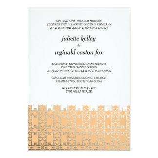 Mills House Charleston Orange and Gold Invitation