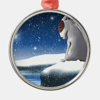 Milo in the snow christmas ornament