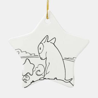 Milo & Ze (Original Bull Terrier Artwork) Ceramic Star Decoration