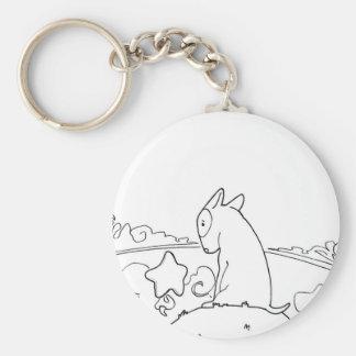 Milo & Ze (Original Bull Terrier Artwork) Key Ring